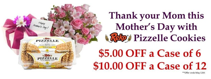 Mother's Day Special! Repin and buy now! #Mothersday #pizzelle #sale