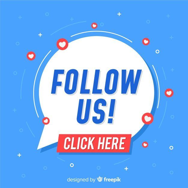 Download Flat Follow Us Background For Free Social Media Design Inspiration Social Media Poster Social Media Icons Free