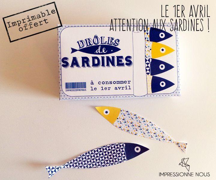 Boîte de sardines (1er avril) via Impressionne nous. Click on the image to see more!