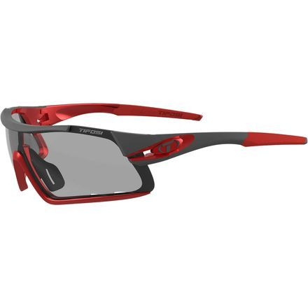 You don't need to spend a fortune to get sunglasses that can keep up on your tough trail runs and long road rides. The Tifosi Optics Davos Photochromic Sunglasses offer a cutting edge sport design and features without drifting into triple-digit price tag territory.Photochromic lenses automatically adapt to changing light conditions so you're not thrown off by rapidly moving clouds and tree-dotted trails.