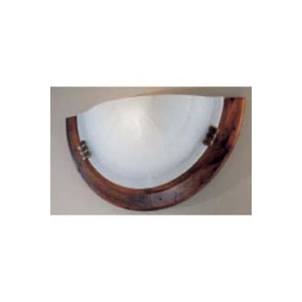 Lampada da parete in legno/vetro  Diametro 36cm   Sporgenza 10cm   Lampadina incandescente E27 MAX 60W (NON INCLUSA) oppure lampadina a risparmio energetico 20W (NON INCLUSA)  TEMPI DI CONSEGNA: SE DISPONIBILE A MAGAZZINO I TEMPI DI CONSEGNA SONO DI 4/5 GIORNI LAVORATIVI, E' COMUNQUE SEMPRE PREFERIBILE CONTATTARCI PER VERIFICARNE LA DISPONIBILITA'