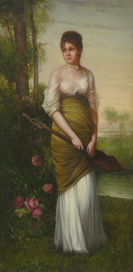Unknown Artist (Continental School, 19th Century) - Portrait of a young woman