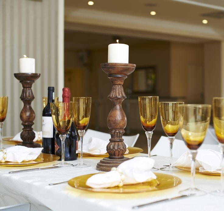 Amber Table Decor for your Event!
