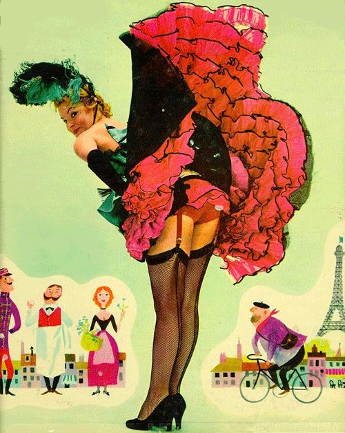 Moulin Rouge Can-Can dancers