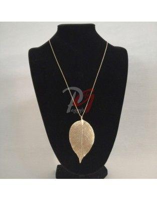 Lantisor cu medalion frunza
