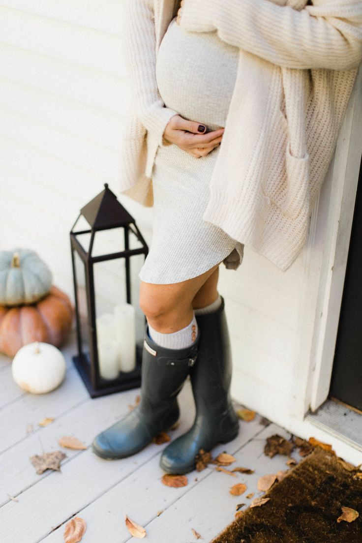 Life and style blogger Lauren McBride shares some tips on How to Style a Maternity Dress for Fall, featuring easy ways to style basic maternity dresses.
