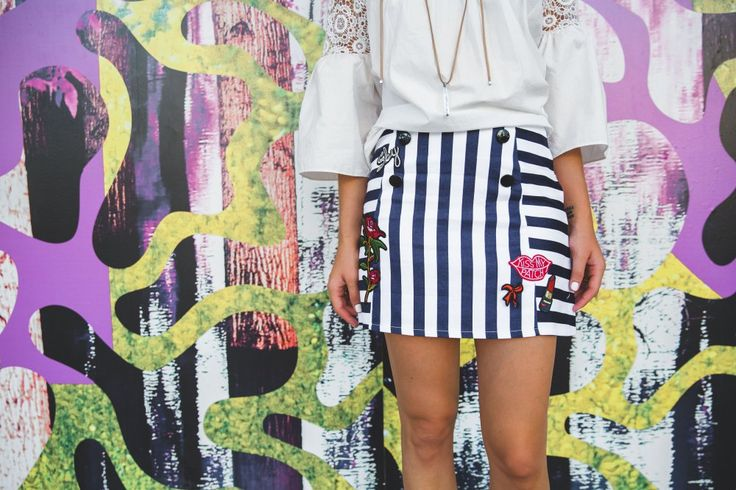 Chic wish Summer Look | Bell Sleeves top | Graphic Mini Skirt | Uptown with Elly…