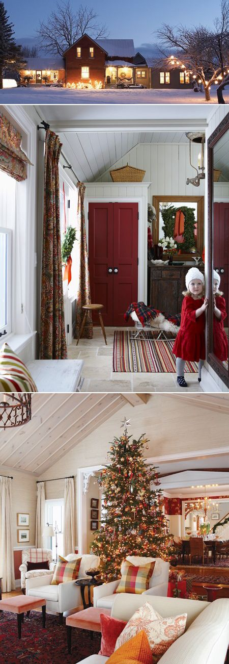 sarah richardson's holiday house Love the simple country decorations