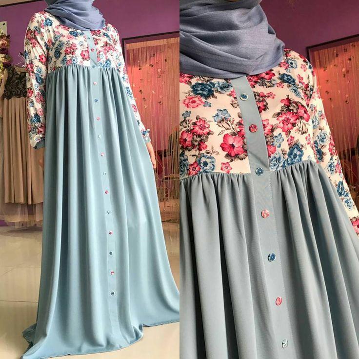 """202 Likes, 14 Comments - Исламская одежда (@malyabisshop) on Instagram: """"Платье сшито из шелка (верх) и абайной ткани (низ) .каждая кнопочка обшит тканью вручнуюнашими…"""""""