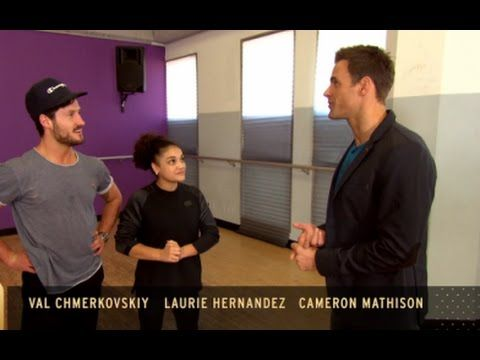 DWTS - Laurie Hernandez and Val Chmerkovskiy Talk Dancing With Maks  'He...