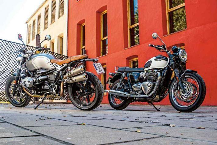 Comparativo retro: BMW R nineT Scrambler vs. Triumph Bonneville T 120