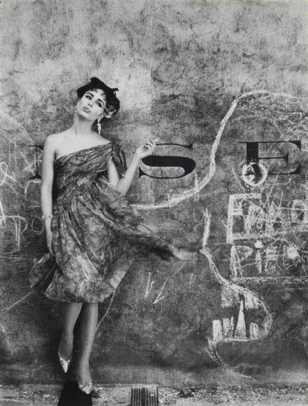 1961 William Klein, Model and Graffiti, Paris (Vogue)