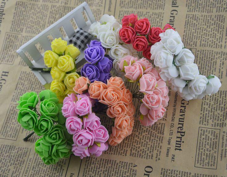 12 шт. искусственные цветы роуз головные уборы декор пена Rugosa гпу эфиопика красочные аксессуары украшение для свадьбы ну вечеринку -