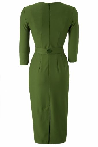 60s Vickie Criss Cross Dress in Vintage Green