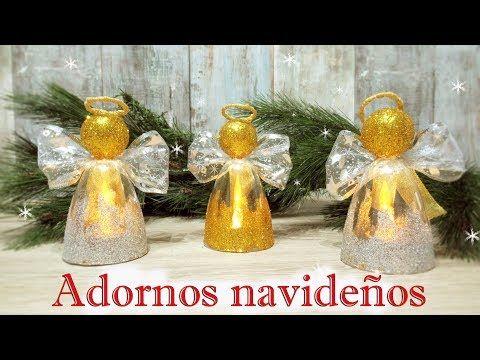 Manualidades para navidad fáciles y económicas reciclando | Decoración navideña 2017 - YouTube