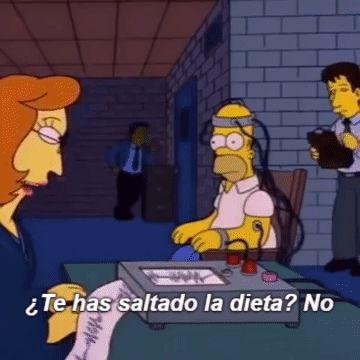 Homer se saltó la dieta…