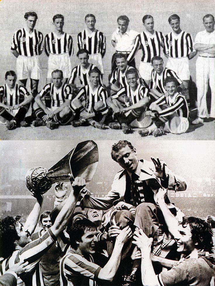 """En 1931 la Juventus reuniría su primer equipo de leyenda y una consecución de 5 scudettos seguidos. Jugadores como Bertolini, Cesarini, Orsi, Giovanni Ferrari, etc., serían recordados por su rendimiento y buen juego en """"el Quinquenio de Oro"""" de la Juve, (conocido como el período histórico de cinco años durante el cual la Juventus Football Club sería pentacampeona de la Serie A del fútbol italiano)."""