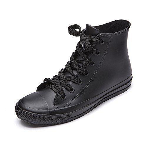 With Waterproof Shoes Lace Women's Top High Boots Rain Dksuko tsxQrChd