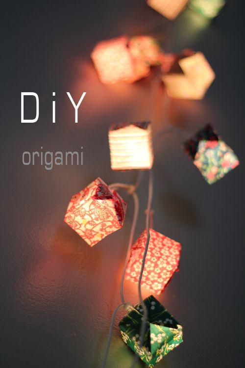 DIY guirlande lumineuse #origami