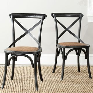 Shop for Safavieh Country Classic Dining Bradford X Back Antiqued Black Side Chairs (Set of 2). Get free shipping at Overstock.com - Your Online Furniture Outlet Store! Get 5% in rewards with Club O!