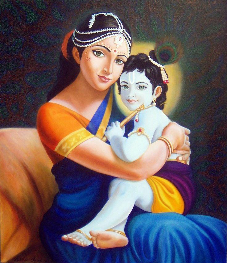 Krishna e Paravati olio su tela cm 100x120