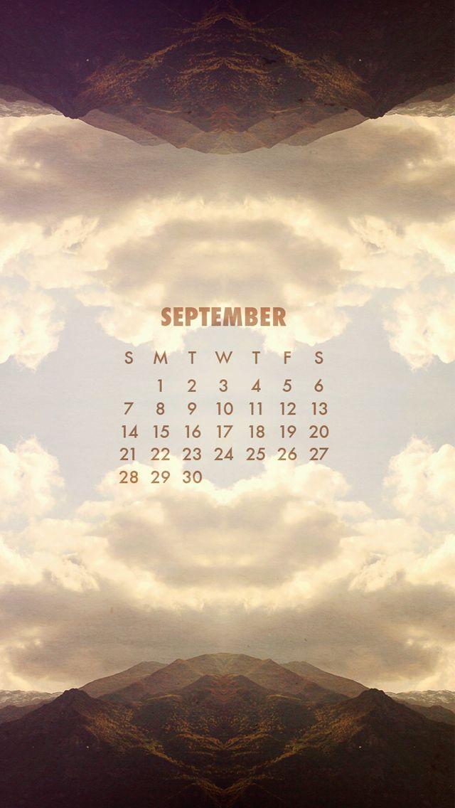 Sky September Calendar 2014 - Beautiful Calendar iPhone wallpapers @mobile9