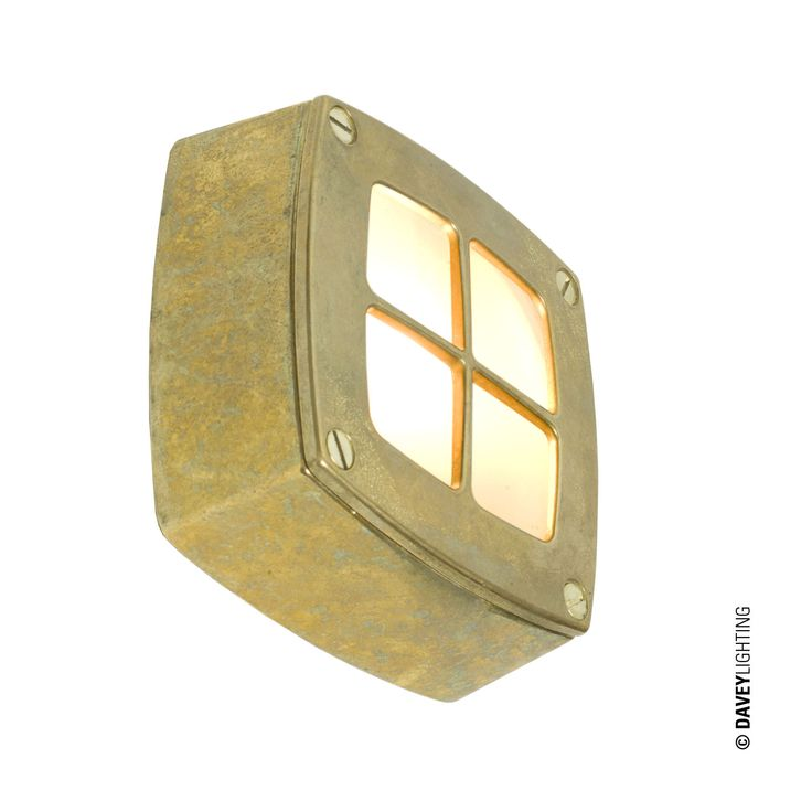 A simple square path or amenity light with guard. Die cast in aluminium or brass with frosted glass diffusers. Surface mounting with rear cable entry.. Type of fitting: G9. Number of lamps: 1. Lamp: Capsule. Maximum wattage: 25. Voltage: 230 (AC). Bulb Supplied: No. Type of glass: Frosted glass. IP Rating : IP54. Dimmable: Yes