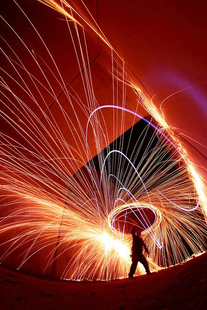 Light drawing with slow shutter speed