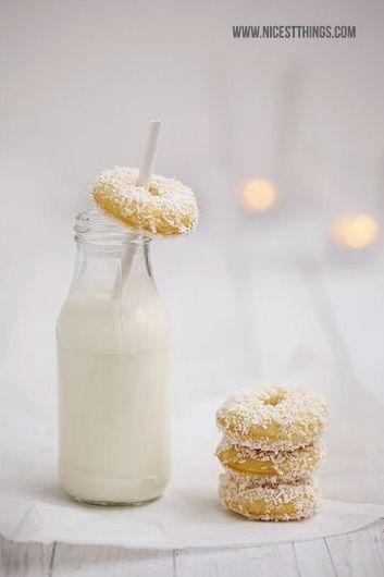 Mini Coconut Donuts
