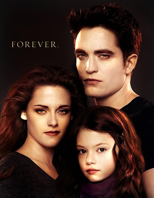 Breaking Dawn Part 2. Bella, Renesmee, and Edward