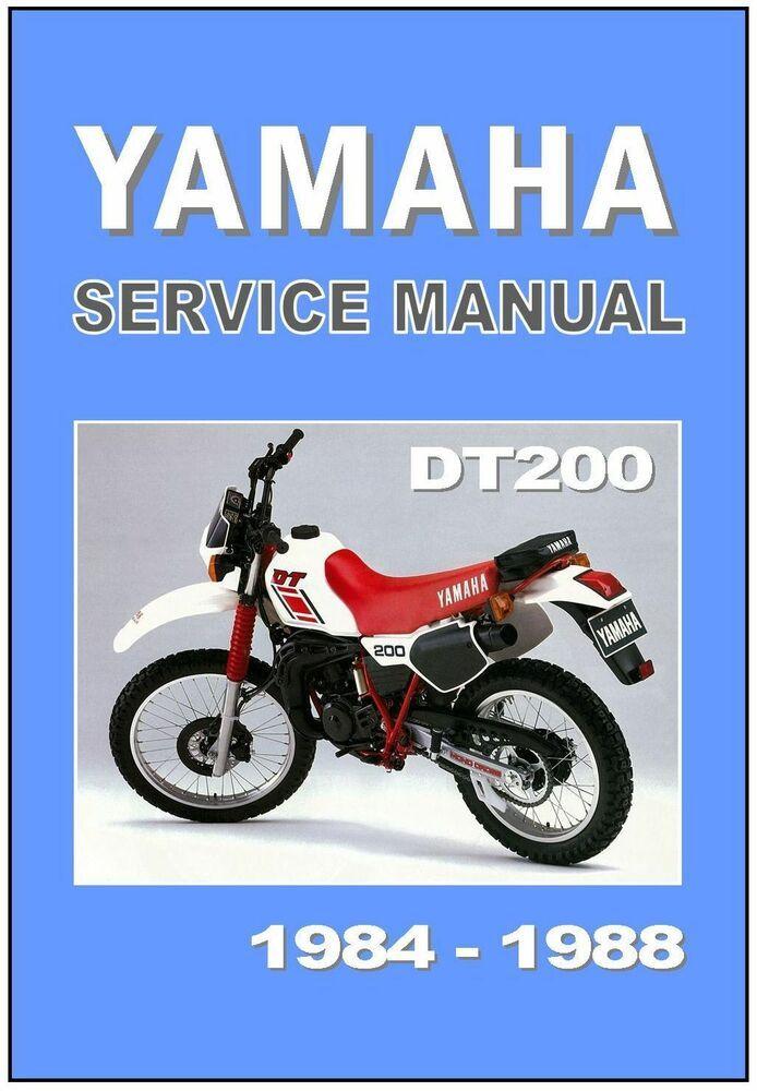 Advertisement Ebay Yamaha Workshop Manual Dt200 1984 1985 1986 1987 1988 Maintenance Service Repair