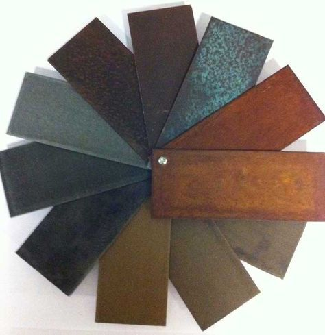 Special finishing: corten steel, bronze, copper, brass, zinc, titanium, rust…