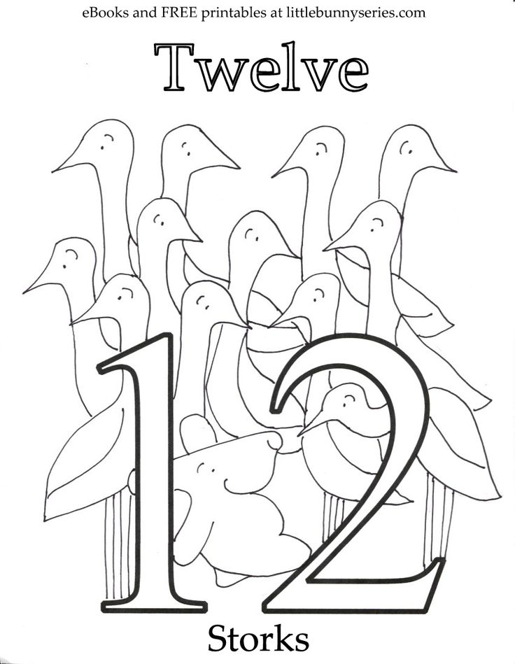 Number 12 Coloring Page PDF (With images) | Coloring pages ...
