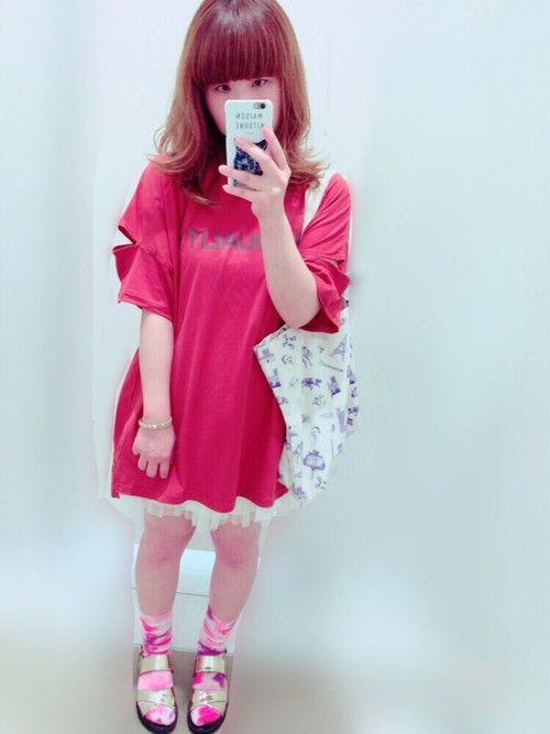 加工でTシャツの色変わりすぎ‥(꒪⌓꒪)他のは変わってないのに、なんでー流行りのテラ