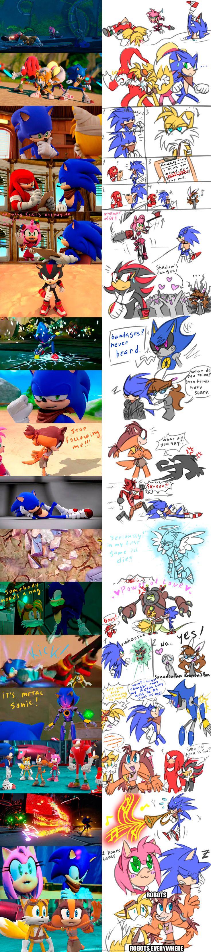 Sonic Boom: Random Screenshots redraw by HoshiNoUsagi on DeviantArt