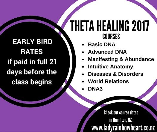 Calling all ThetaHealing advanced practitioners.  'Learning should be fun'.  I have some wonderful seminars lined up for you in.   Intuitive Anatomy * July in 2017.  HAMILTON.NEW ZEALAND   Pip Oxlade Spiritual Success Mentor  Cert.of Sci. Instructor  www.ladyrainbowheart.co.nz