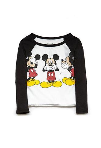 Mickey Mouse Baseball Tee (Kids)   FOREVER21 girls - 2000088479