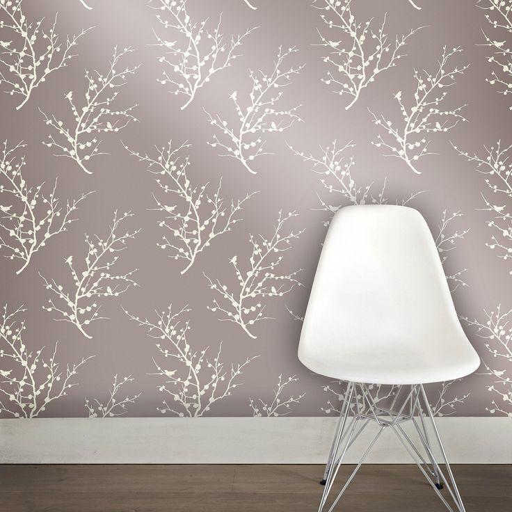 Edie Self Adhesive Wallpaper in Champagne design by Tempaper