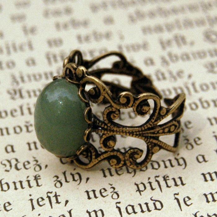 Aventurine Filigree Ring: Fashion, Filigr Rings, Jewleri, Pretty Things, Love It, Filigre Rings, Aventurin Filigre, Accessories, Splendid Styles
