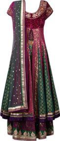Buy Poonam Dubey Multicoloured brocade embroidered lehenga set Online, , LimeRoad