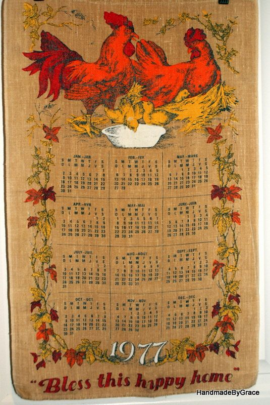 82 Best Images About Vintage Calendar Towels On Pinterest