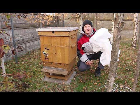 pszczoły (dodatkowe ocieplenie na zimę) - YouTube
