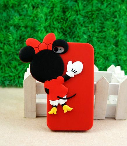 Cute 3D Disney Minnie Mouse Soft Silicone Cover Case for iPhone 4 4S 4G Gifts | eBay -- thought this was cute! @Katie Davis