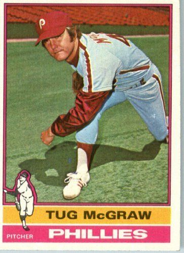 1976 Topps #565 Tug McGraw Philadelphia Phillie Baseball Card In a Protective…