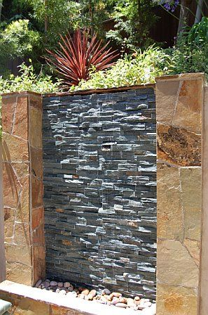600mm diy water wall cascade effect spillway complete kit diy water feature water walls - How to build an outdoor fountain with rocks ...