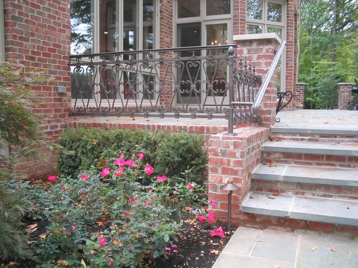 1000 images about stair rails for exterior steps on - Exterior wrought iron handrails for steps ...