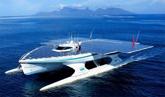 """Not technically a """"place"""" but it went to some amazing places -- Turanor PlanetSolar Solar Boat Completes its Around the World Trip 