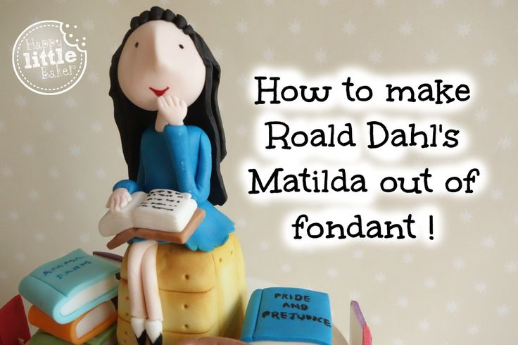 How to make Roald Dahl's Matilda out of fondant.