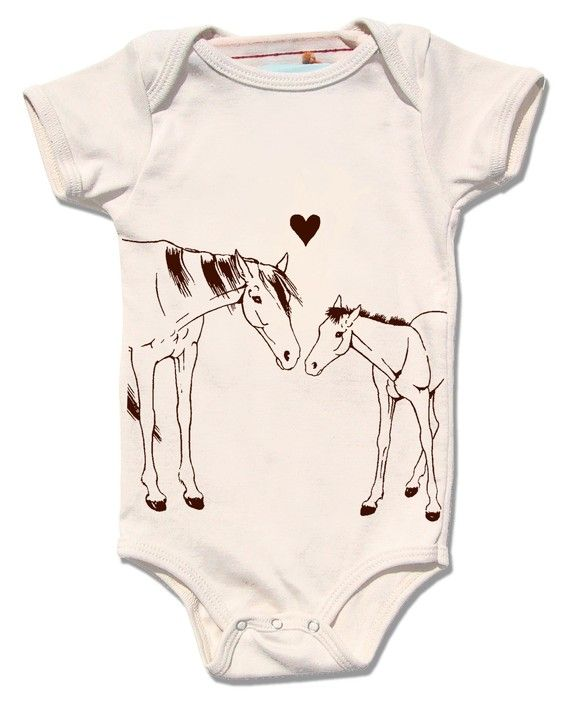 HORSE and PONY love organic cream one piece baby by alittlelark, $29.95