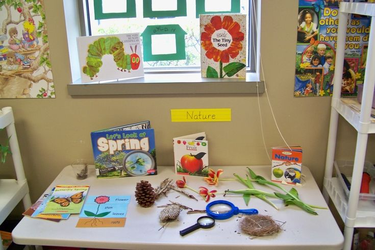 Growing in Pre K - Science Center  Love seeing the learning that springboards from areas like this. If given the chance, children ask questions and take their learning in directions that adults would never even think of